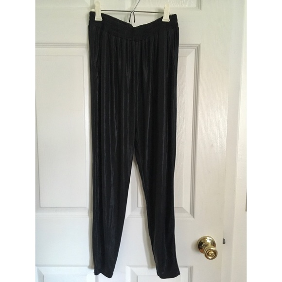 Lucca Couture Pants - Shiny black pants urban outfitters